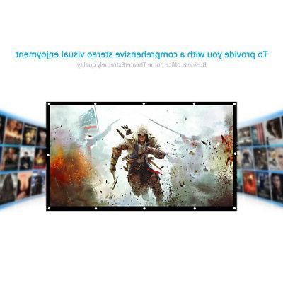 Projector Screen HD White Dacron 150 Video Screen D3X0