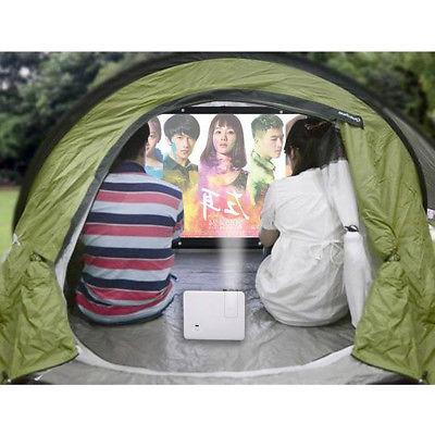Projector HD White Dacron Inch Video Projection Screen