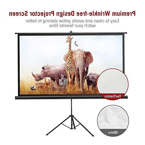 Projector with Stand, TaoTronics Screen Inch 16:9 Premium Wrinkle-Free Design