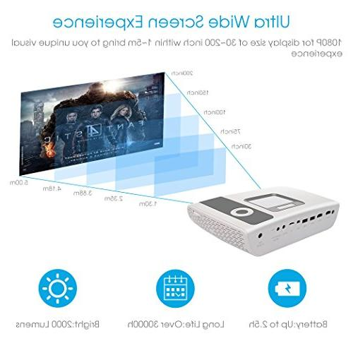 HD Video Cinema Lumens Multimedia Gaming with for Theater Entertainment