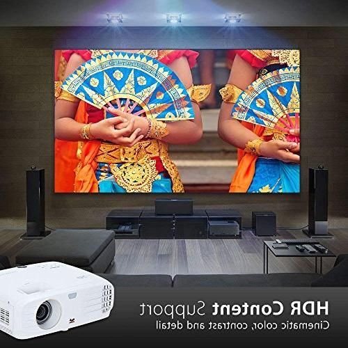 ViewSonic 4K Projector with Wide Gamut Rec and Home