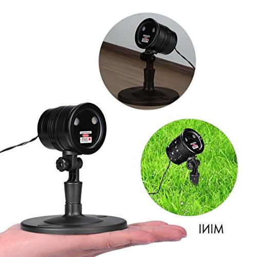 5V IP65 Waterproof Led Laser Stage Shows Projector Shinning Outdoor Decoration, Remote Control Included