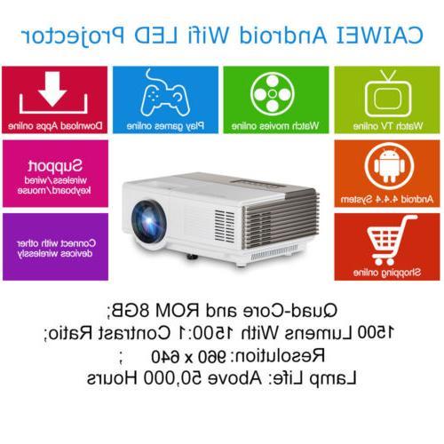 Smart Projector Wifi Bluetooth Theater Kodi