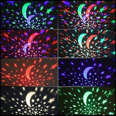 Starry Sky Lamp Kids Gift Moon Star Light Rotating Cosmos