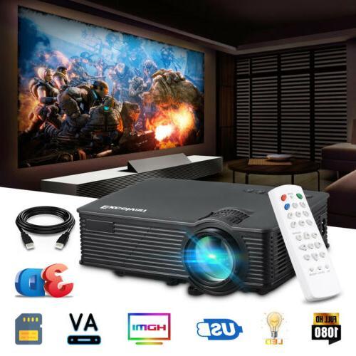 7000Lumens Full HD 1080P LED 3D VGA AV SD USB Home Theater P
