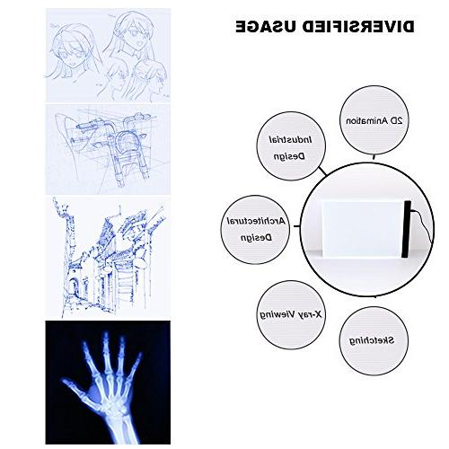 Tracing Box, Ultra Pad Stenciling, Dimmable USB Powered LED Trace Panel Adult Best Display with