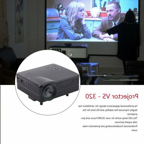 Lumens Projector Home Theater PC TV USB HDMI BB