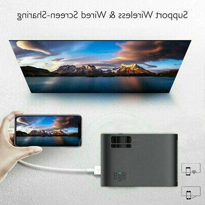 WiFi 4K 3D Projector 1080P HD 8GB