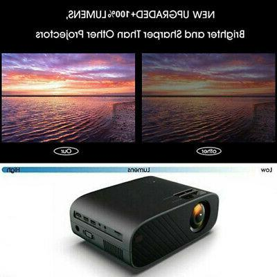 WiFi Wireless 4K LED Smart Projector Android 6.0 BT 1080P HD 8GB