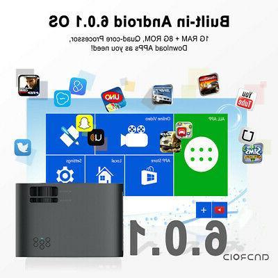 WiFi Home 4K LED Projector 1080P HD 8GB