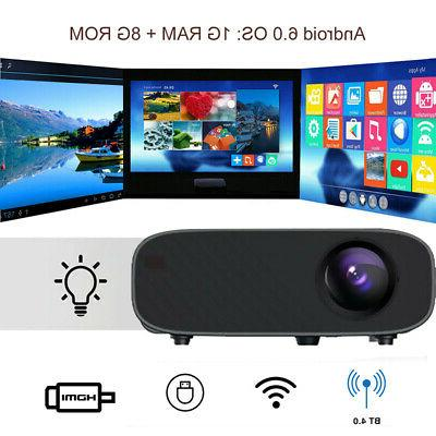 WiFi Wireless 4K Projector Android 6.0 BT