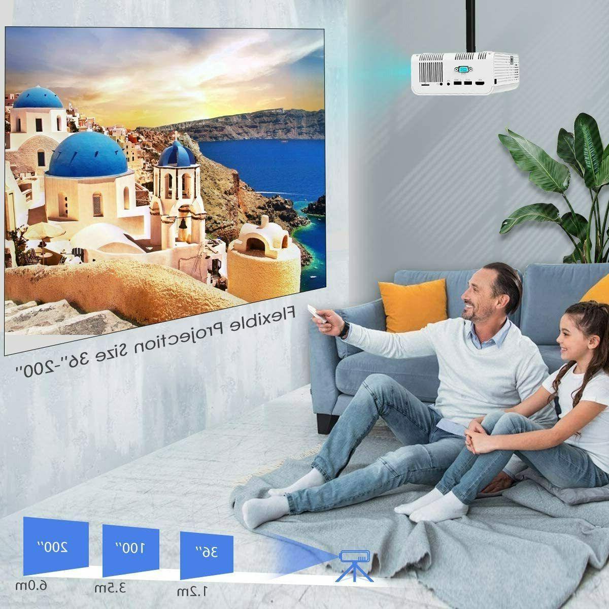 Wireless Bluetooth 4K HD 7500 Lumens Movie Video HDMI