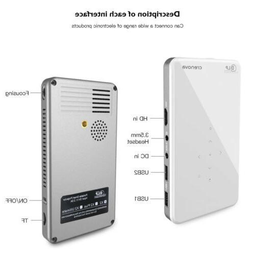 Crenova DLP mini projector Wireless WiFi 4.1