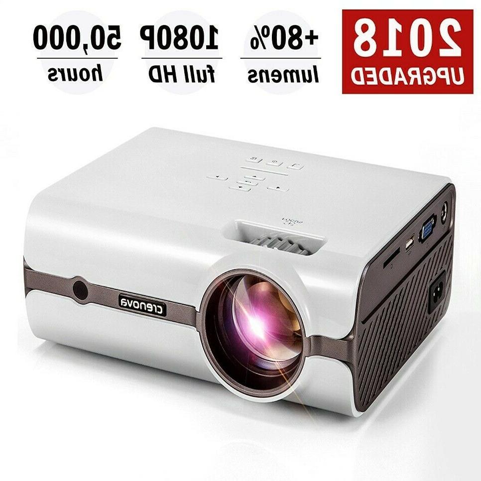 Crenova XPE496 HDMI Projector –2200 Lumens Home/Theater/Ou