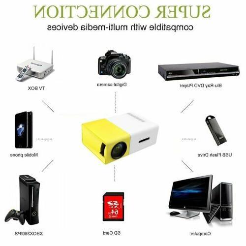 YG300 Mini Portable LED Projector HD 1080P USB