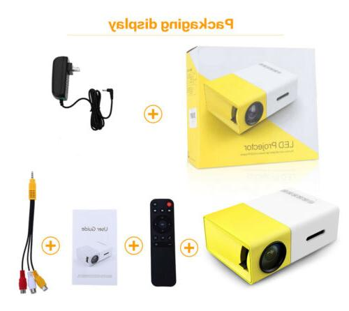 YG300 Home Cinema SD Mini LED Projector