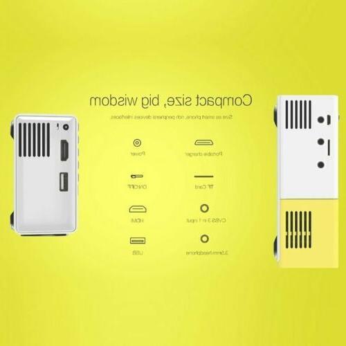 YG300 Portable Mini Home HDMI Projector Video