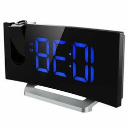 LCD Digital LED Projector Projection FM Radio Snooze Alarm C