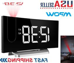 LCD Digital LED Projector Projection Snooze Alarm Clock Time