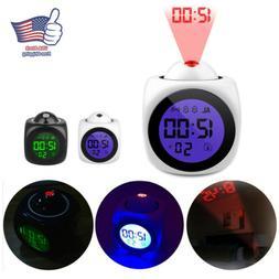 LCD DisplayDigital Projection Alarm Clock With Voice Talking