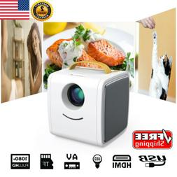 Excelvan LED 1080P Mini Multimedia Projector Home Theater HD
