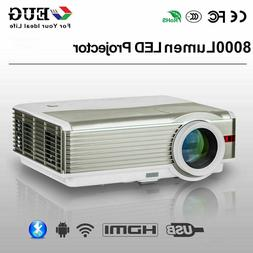 LED 1080P Smart Projector WiFi Proyector HD Android Blue-too
