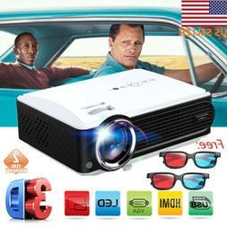 LED HD 1080P 3D Projector Home Cinema Theater 7000 Lumen ATV