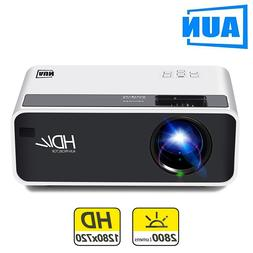 AUN LED MINI <font><b>Projector</b></font> D60, 1280x720P Re
