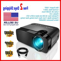 LED Mini Projector Portable HD 1080P Multimedia Home Theater