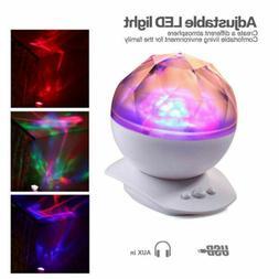 LED Night Light Projector Music speaker Timer Rotating Lamp