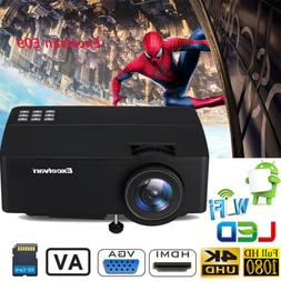 Excelvan LED Projector 3D Home Theater 3600lumens FHD 1080P