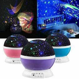 LED Romantic Starry Night Light Sky Galaxy Projector Lamp St