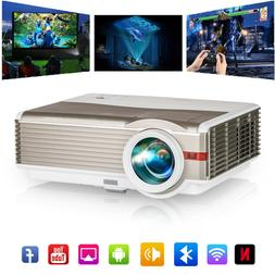 LED Smart HD Projector 1080P Blue-tooth Android 6.0 WiFi Mov