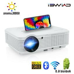 LED Smart HD WiFi Projector 1080P Android 6.0 Blue-tooth Pro