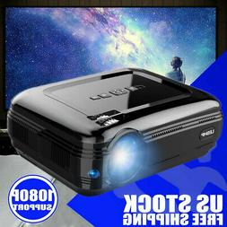 LED Smart Home Theater Projector 4K 1080p FHD 3D VGA 2*HDMI