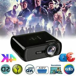 LED Smart Home Theater Projector 4K 1080P HD 3D AV/VGA/USB/S