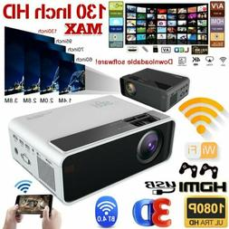 LED Smart Home Theater Projector Android 6.0 4K Wifi BT 1080