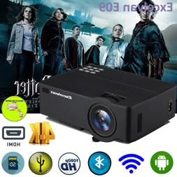 4K Video 1080P 3600Lumen WiFi LED Home Video Projector HDMI/