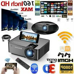 LED Smart Home Theater Projector Full HD 1080p Wifi Video Mo