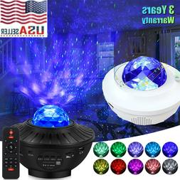 LED Starry Night Sky Galaxy Projector Lamp 3D Ocean Wave Sta