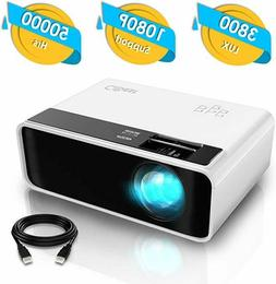 CiBest LED Video Projector 3800 lux Halloween kids camping m