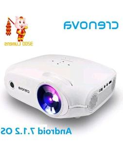 LED Video Projector Full HD 4K*2K Android 7.1.2 OS Home Thea