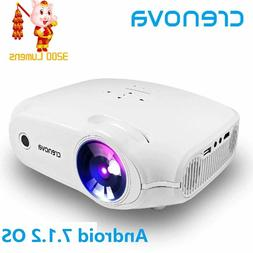 LED Video Projector Full HD 4K*2K Android xpe 498 white