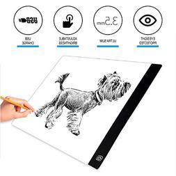 Light Pad Drawing,EUG Portable Ultra Thin LED A4 Light Box T