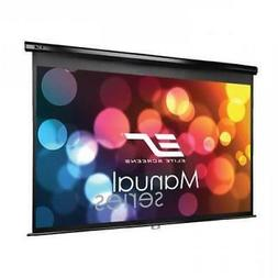 Manual Projector Screen with Auto Lock Pull Down Projection