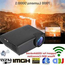 Mini 1080P Full HD LED Projector Home Theater Cinema 3D HDMI