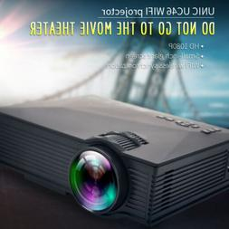 Mini 1080P HD 3D Projector AV USB VGA HDMI LED Multimedia Ho
