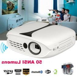 Mini 50ANSI Lumens 1080P Full HD LED Projector 3D Home Theat
