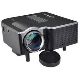 Mini AV LED Digital Projector w/USB, SD Card Slot & Speaker