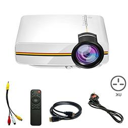 Qjoy LED Mini Home Video Projector with 1200 Lumen Multimedi